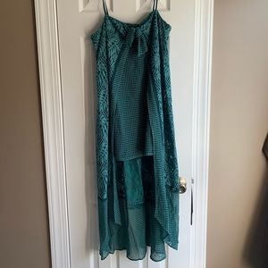 Lace teal dress!